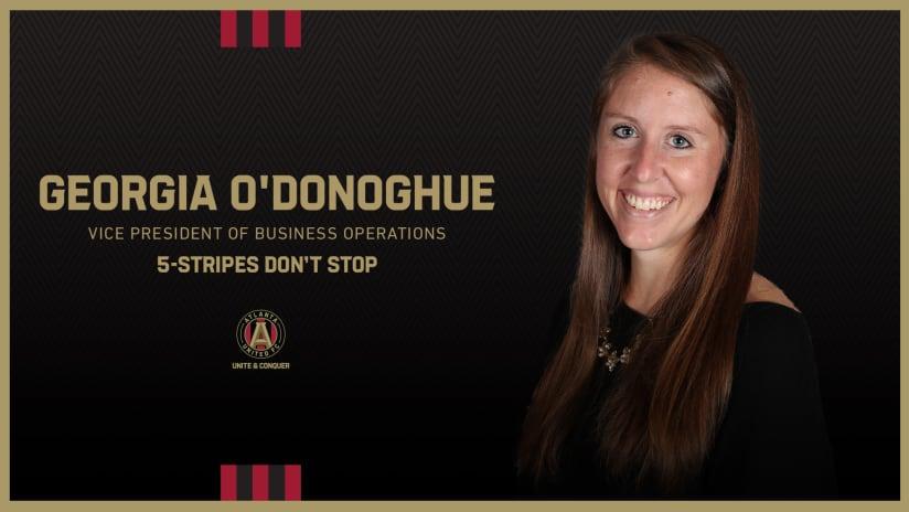 Atlanta United names Georgia O'Donoghue Vice President of Business Operations