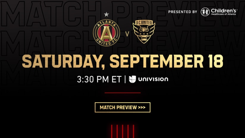 Atlanta United vs. D.C. United Saturday, September 18, 2021 Match Preview