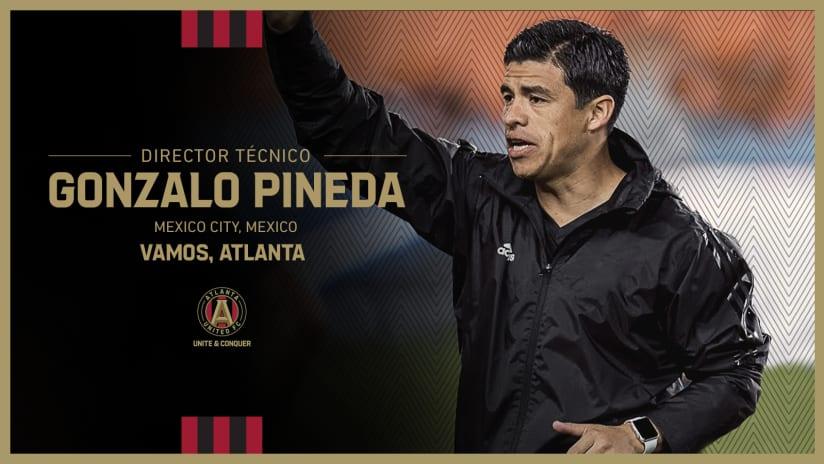 Gonzalo Pineda Atlanta United Coaching Announcement Thursday, August 12, 2021 Spanish