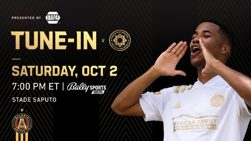 Check out all the ways to watch, listen and live stream Atlanta United at CF Montréal on Saturday, October 2, 2021.