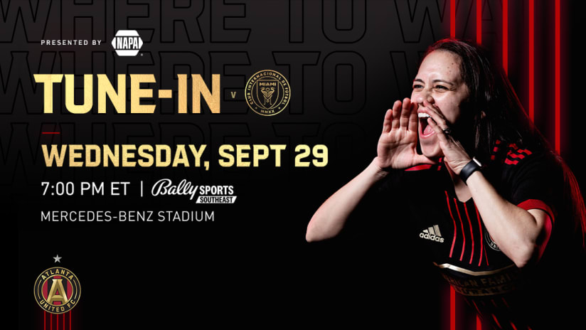 Check out all the ways to watch, listen and live stream Atlanta United vs. Inter Miami on Wednesday, September 29, 2021.