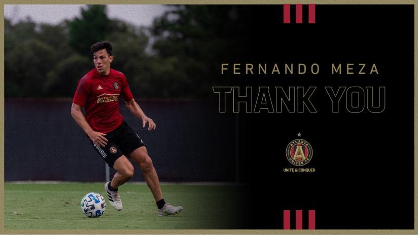 Atlanta United terminates Fernando Meza's contract