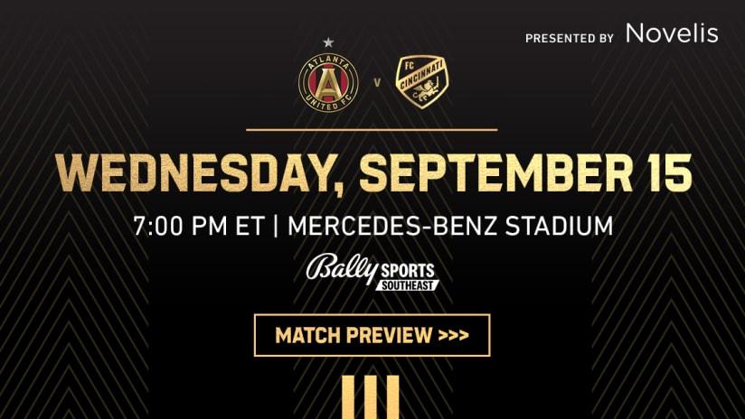 Match Preview: Atlanta United vs. FC Cincinnati on September 15, 2021