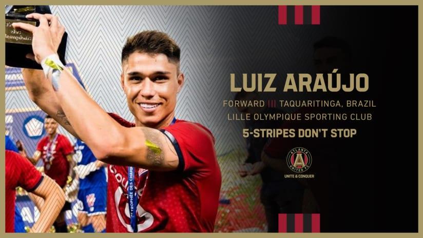 Atlanta United signs Luiz Araújo via transfer from Lille