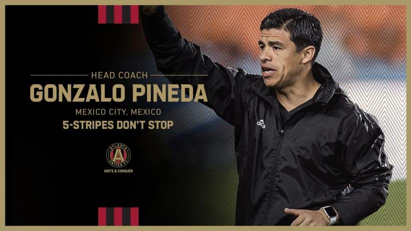Gonzalo Pineda Atlanta United Head Coach Announcement Thursday, August 12, 2021