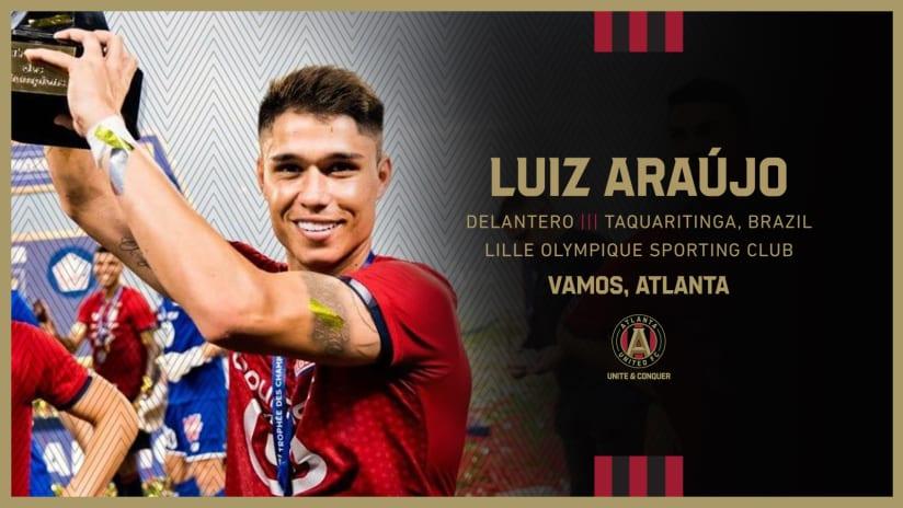 Atlanta United ficha a Luiz Araújo via transferencia de Lille