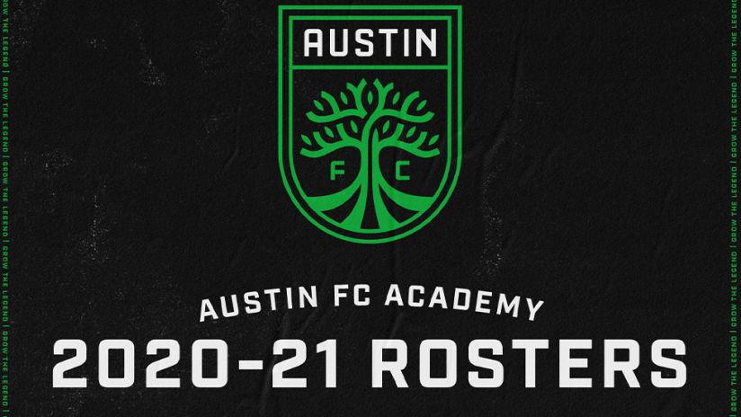 Austin FC Academy Announces 2020-2021 Rosters