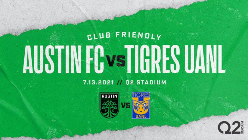 Austin FC to Face 7-Time Liga MX Champion Club Tigres UANL in Friendly Match at Q2 Stadium