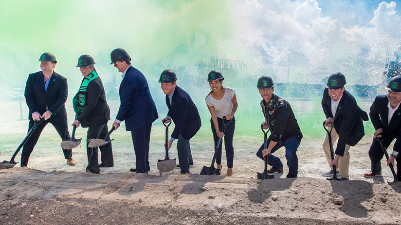 Two Oaks Breaks Ground on Privately Funded Soccer Park and Stadium
