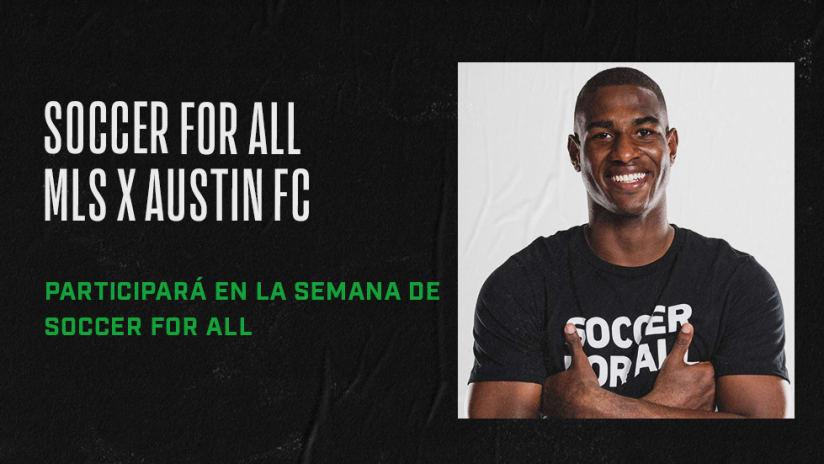 Austin FC Participará en la Semana de Soccer For All de MLS