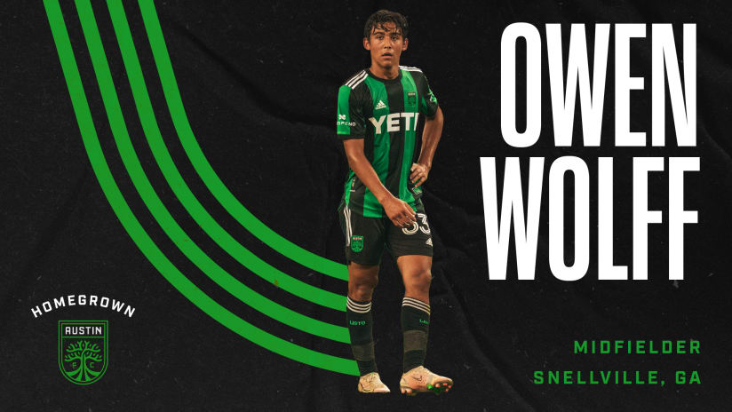 Austin FC Sign Midfielder Owen Wolff as First Homegrown Player in Club History