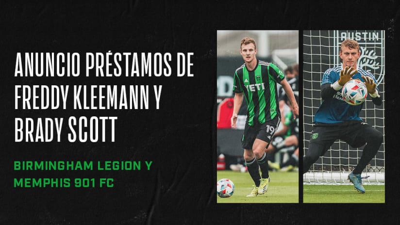 Austin FC Anuncia Préstamos de Freddy Kleemann y Brady Scott