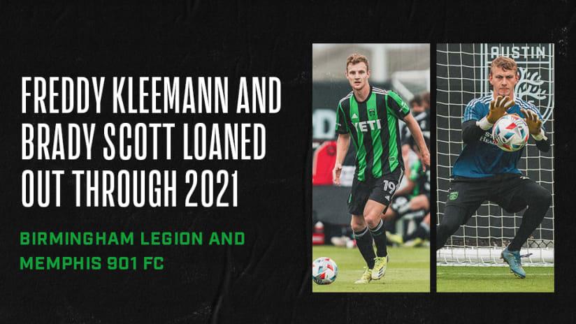 Austin FC Announces USL Loans for Defender Freddy Kleemann and Goalkeeper Brady Scott