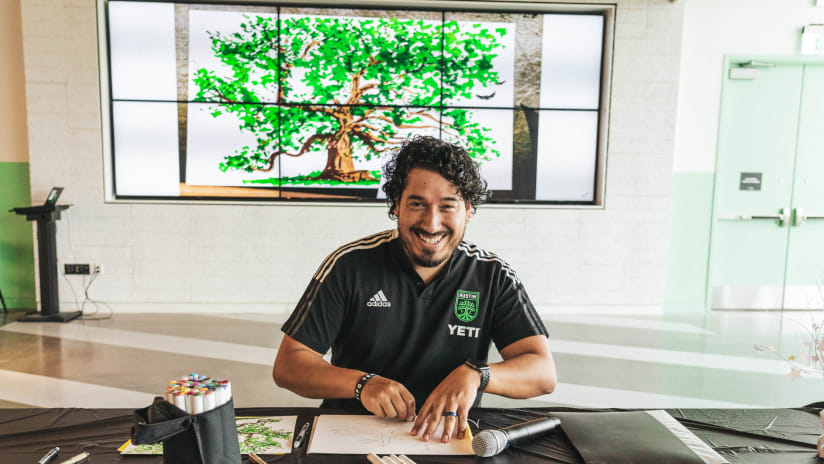 ATXFC Artist Initiative's Joel Corral provides arts education to Creative Action of Austin