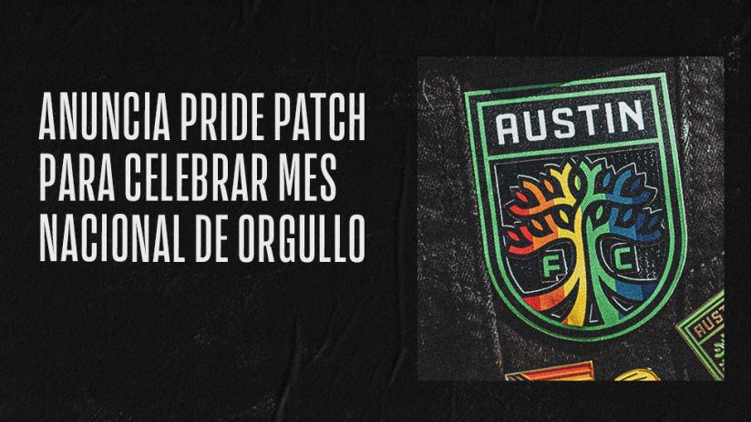 Austin FC Anuncia Pride Patch Para Celebrar Mes Nacional de Orgullo