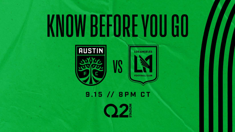 Know Before You Go: Austin FC vs. LAFC | Sept. 15, 2021