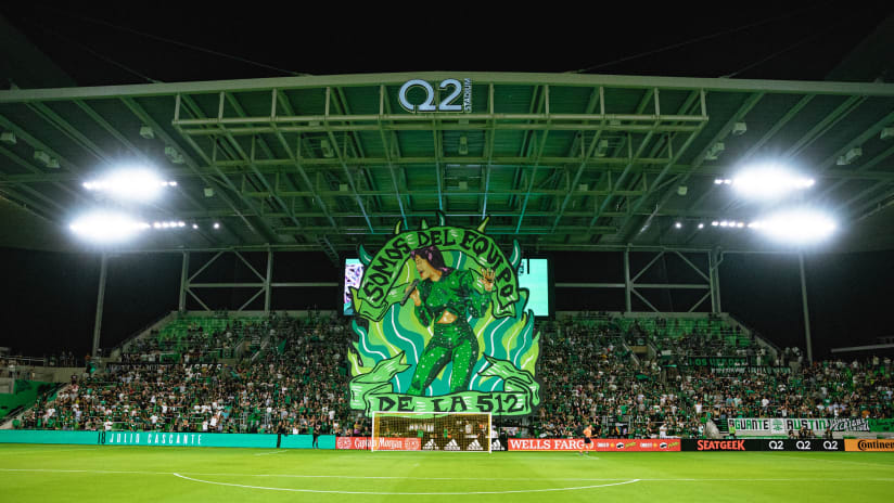 Austin FC Supporters Unveil Incredible Selena Tribute Tifo