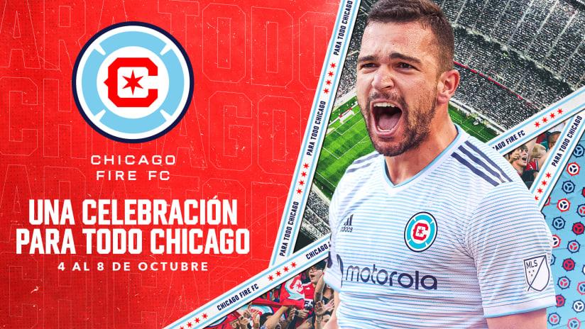 """Chicago Fire FC Anuncia """"Una Celebración para Todo Chicago"""" con el Lanzamiento Completo del Nuevo Escudo y el Reconocimiento del Gran Incendio de Chicago y el Aniversario de la Fundación del Club"""