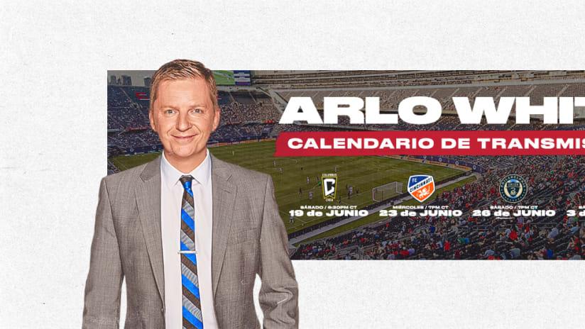 arlo white schedule announcement dl esp