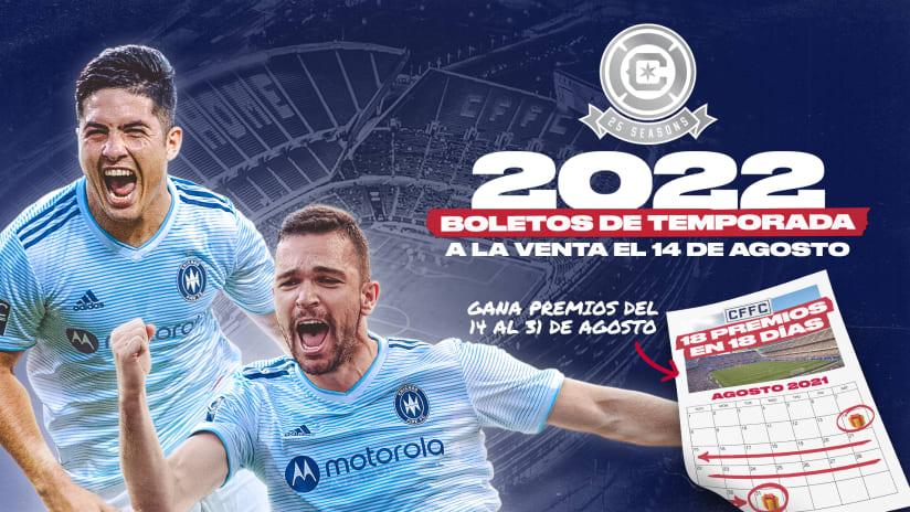 Boletos de Temporada 2022 Salen a la Venta el Sábado por la Mañana