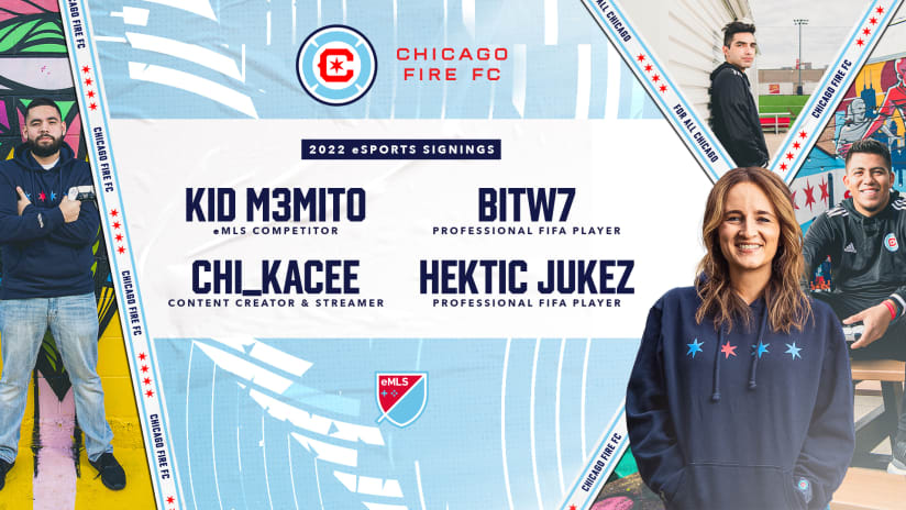 Chicago Fire FC Expands eSports Team, Re-Signs Former eMLS Champion and Signs First Female Gamer in Major League Soccer