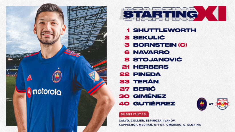 Lineup Notes | Chicago Fire FC at New York Red Bulls
