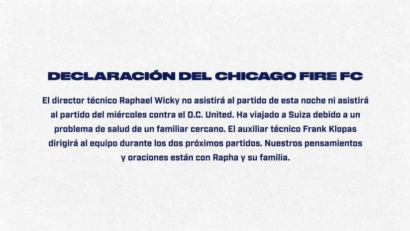 Declaración del Chicago Fire FC
