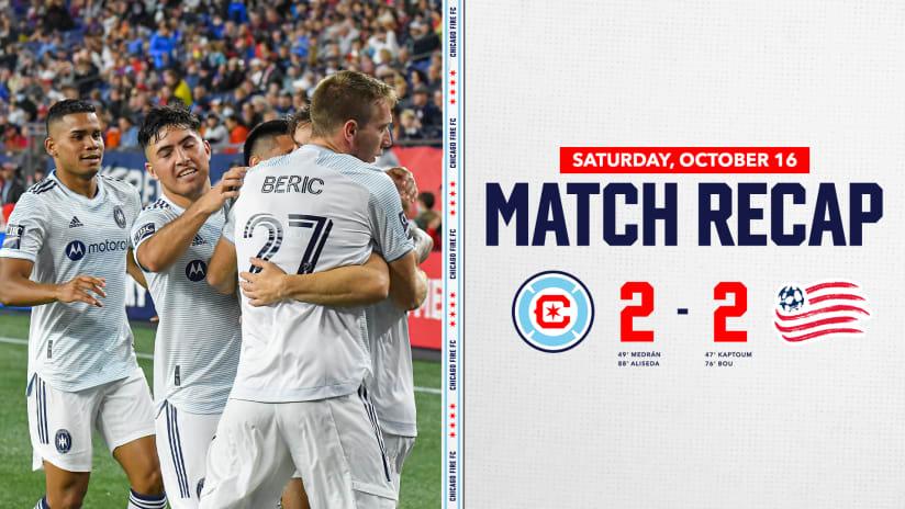 Chicago Fire FC Battles New EnglandRevolution to 2-2 Draw at Gillette Stadium