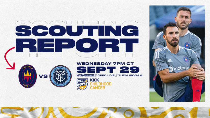 Scouting Report | Fire, NYCFC Meet Wednesday at SeatGeek Stadium