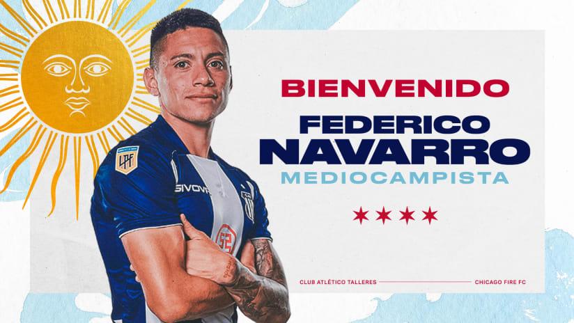Chicago Fire FC Adquiere al Mediocampista Defensivo de 21 Años Federico Navarro