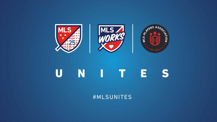 MLS Unites announcement header