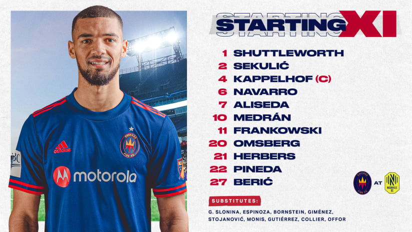 Lineup Notes | Chicago Fire FC at Nashville SC