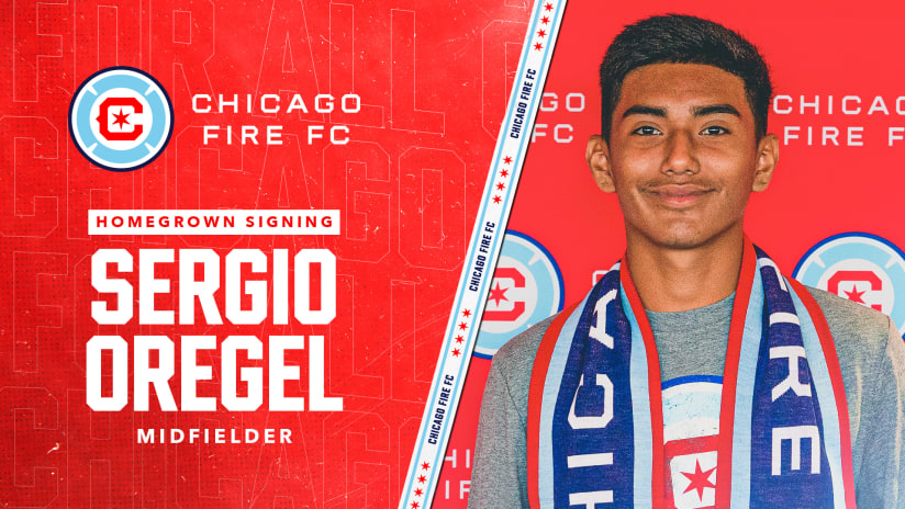Chicago Fire FC Sign Academy Midfielder Sergio Oregel to Homegrown Player Contract