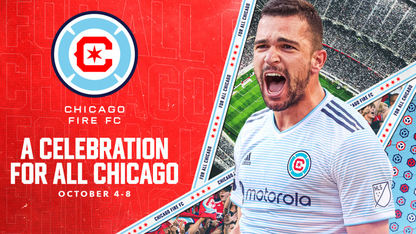 """Chicago Fire FC Announces """"A Celebration for All Chicago"""" as Club Fully Launches New Crest and Recognizes 150th Anniversary of the Great Chicago Fire and the Anniversary of the Club's Founding"""