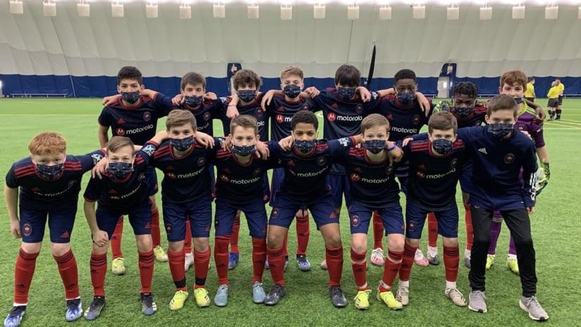 academy u-13s group