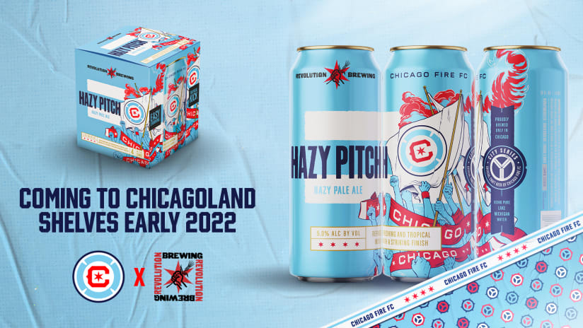 Chicago Fire FC and Revolution Brewing Announce Multi-Year Partnership, Unveil Signature Beer Hazy Pitch