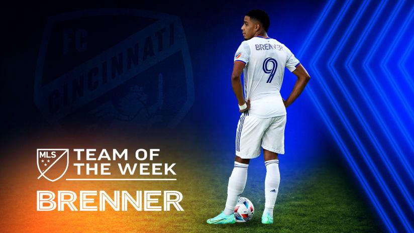 Brenner Souza da Silva named to MLS Team of the Week for Week 13