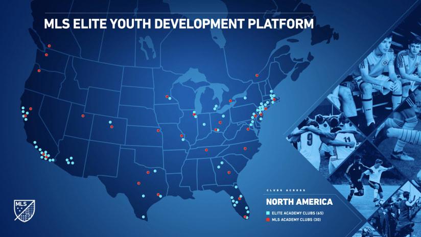 Founding clubs announced in MLS' new elite player development program