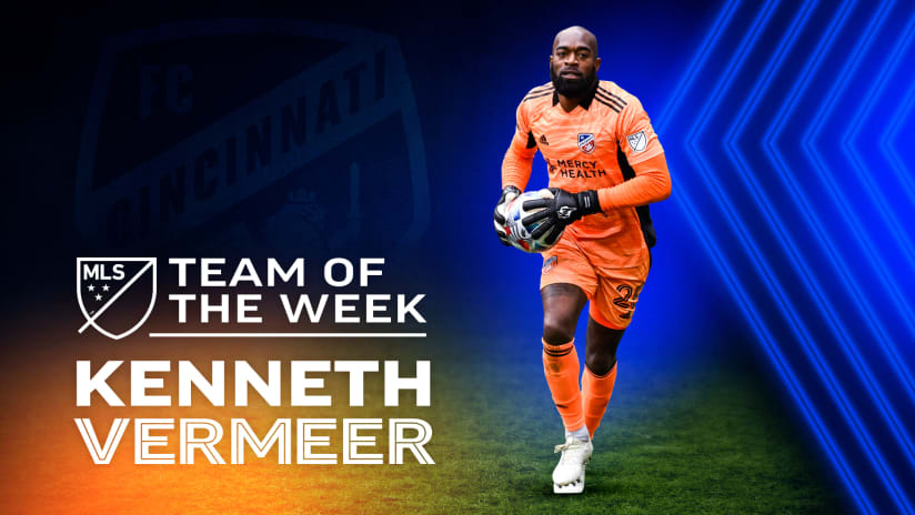 Kenneth Vermeer named to Major League Soccer's Team of the Week