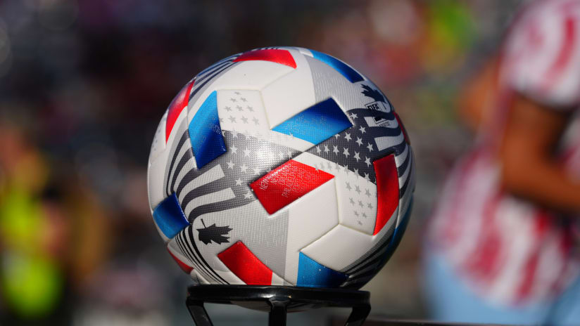 2021 MLS ball on stand