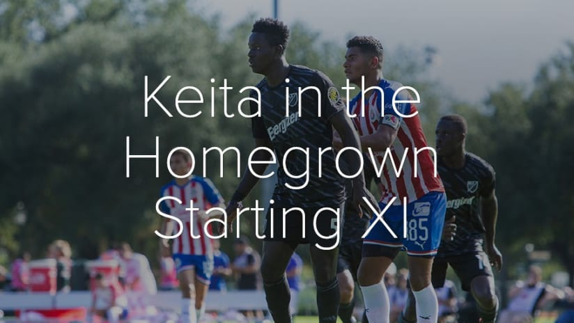 PHOTOS: For Keita, first the U-20 World Cup, now the MLS Homegrown Game - Keita in the Homegrown Starting XI