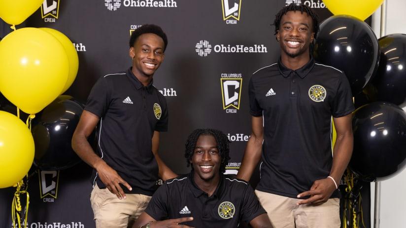 Columbus Crew Academy celebrates Academy Signing Night at OhioHealth Performance Center