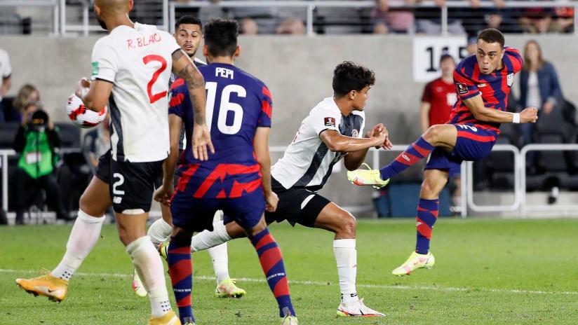GOAL | Sergino Dest scores the first USMNT goal at Lower.com Field
