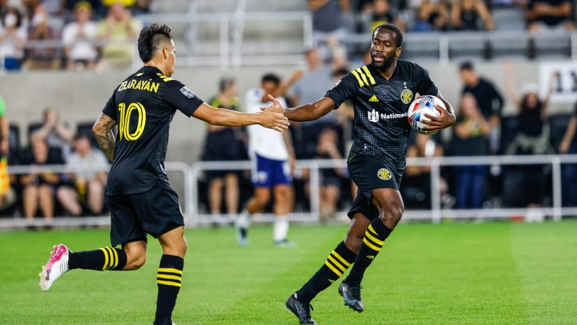 GOAL   Kevin Molino tallies his first for Columbus Crew