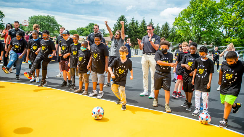 Crew announces opening of new mini-pitch in Columbus