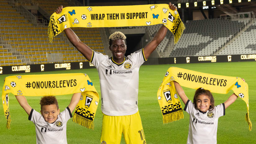"""Nationwide Children's Hospital and Columbus Crew announce """"Wrap Them In Support"""" Campaign, Benefitting On Our Sleeves®"""