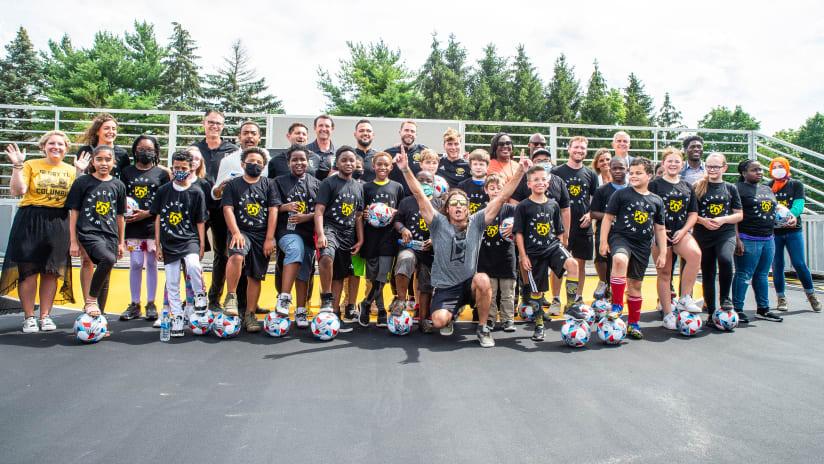 PHOTOS | Columbus Crew opens new mini-pitch at Northgate Intermediate School