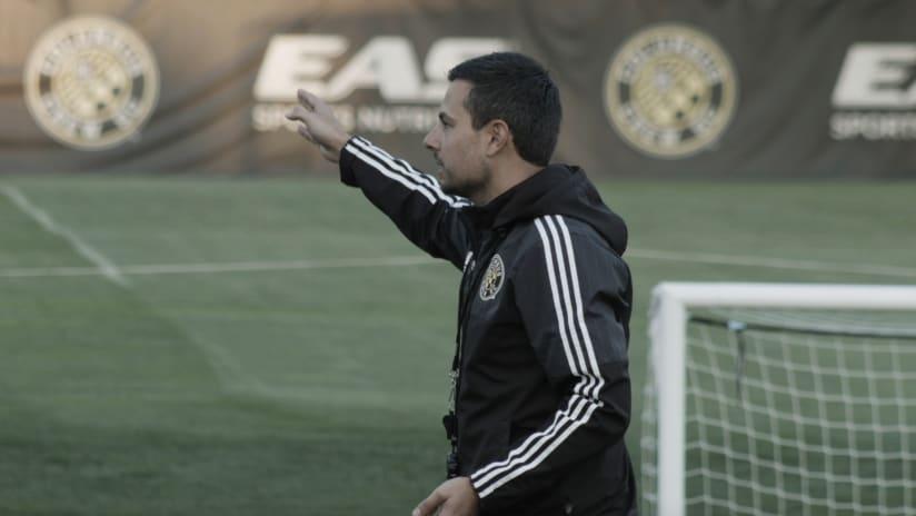 Nico Estevez coaching the Academy