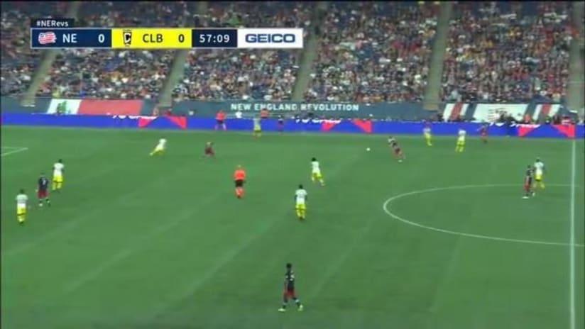 GOAL   Gyasi Zardes' pinpoint header gets past Revs, USMNT goalkeeper Matt Turner
