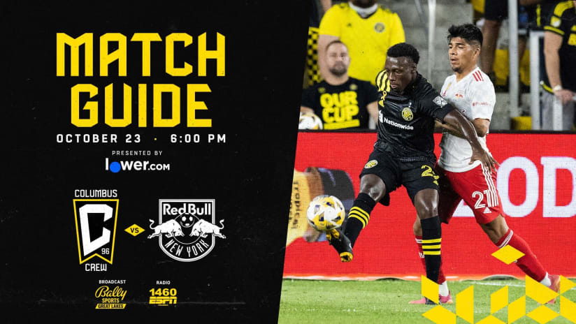 MATCH GUIDE | What you need to know for Columbus Crew vs. New York Red Bulls at Lower.com Field